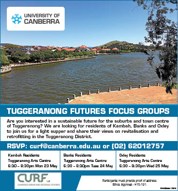 Tuggeranong Residents Focus Groups – Call for Participation