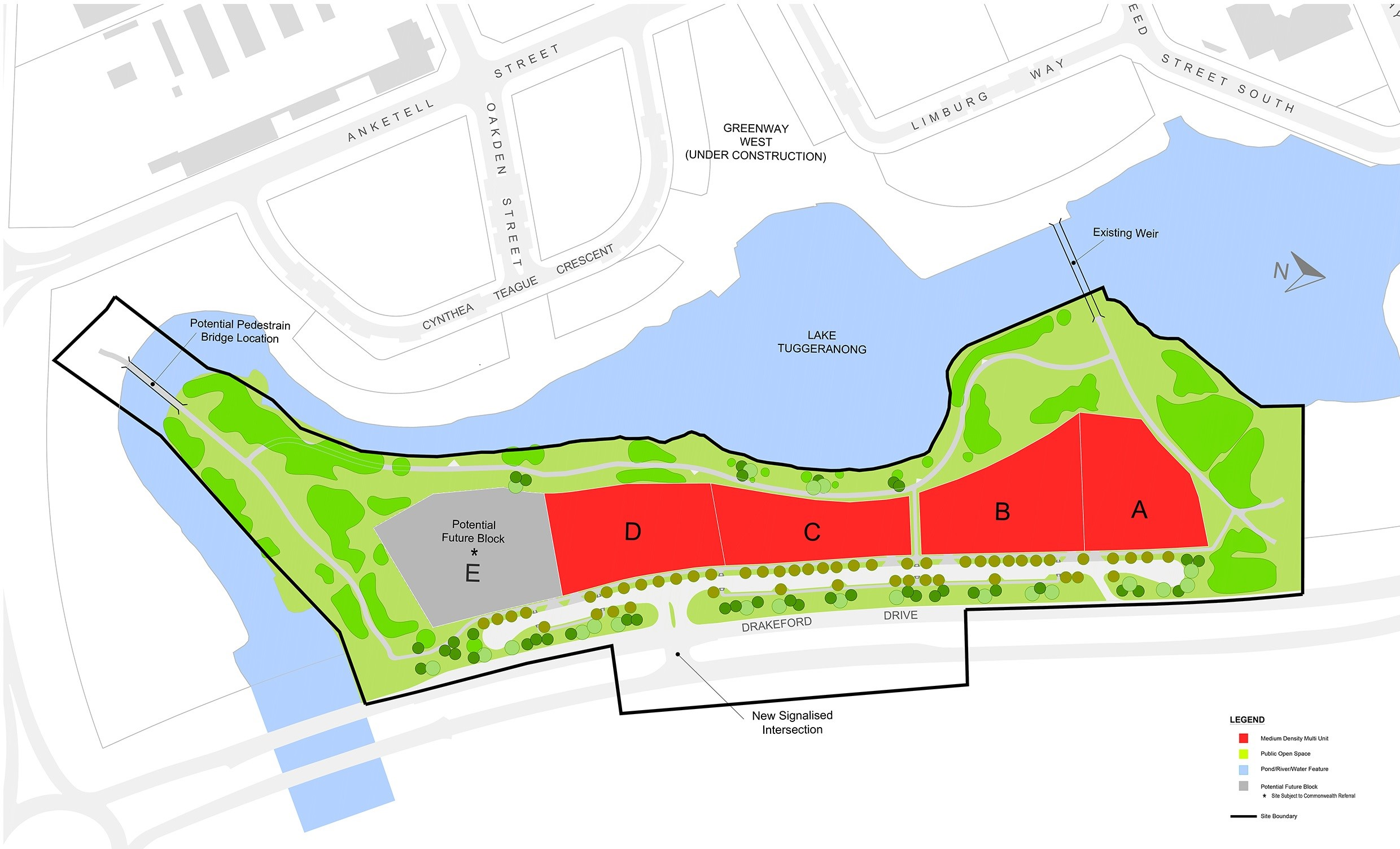 Drakeford Drive proposed traffic changes near new development