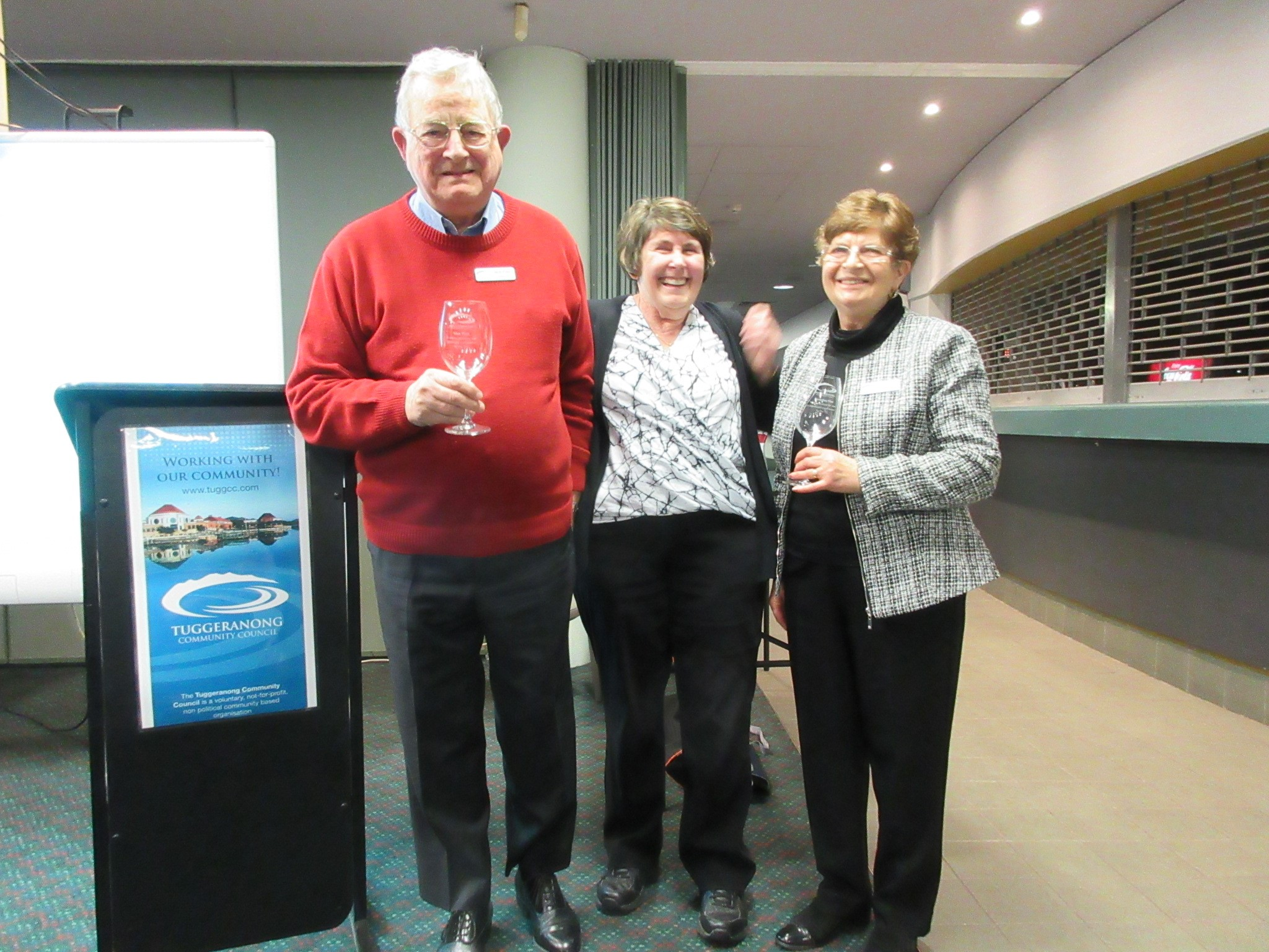 Many Thanks to Beverley and Max Flint for your fantastic support to the Tuggeranong Community Council (TCC)