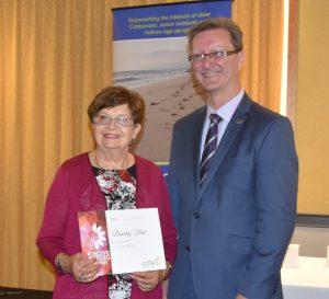 Beverley Flint wins Senior Achiever Award